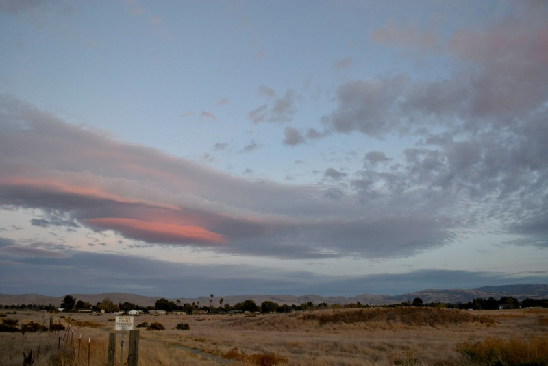 Lenticular Clouds Over Livermore California Oct 21 2012