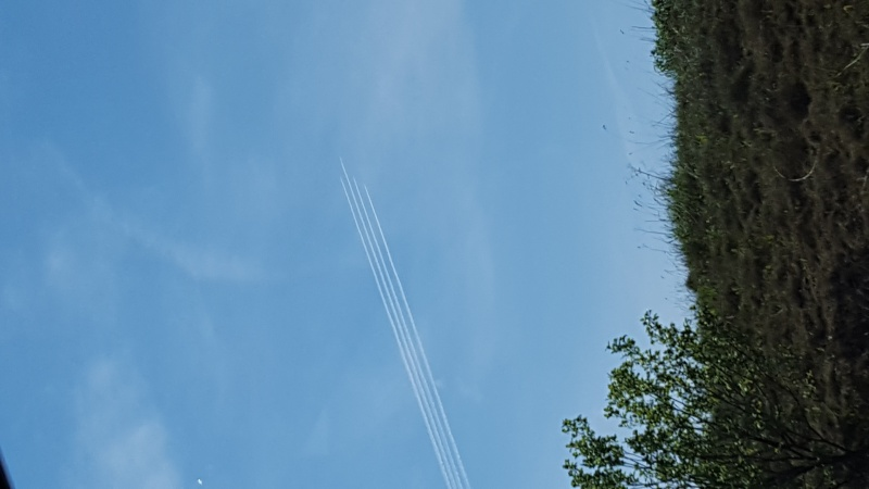 Planes in formation!