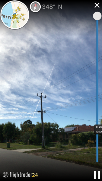 Chemtrail over perth today