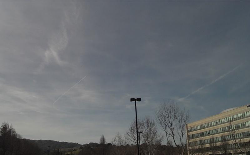 Massive U shaped Chemtrails over Dublin / Pleasanton, CA January 29, 2013