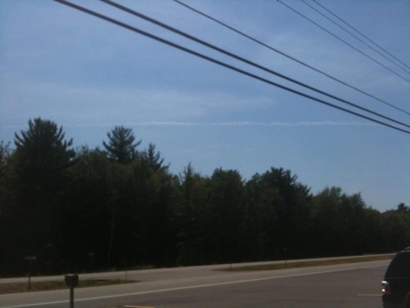 Chemtrail in Saginaw, MI - July 14, 2012